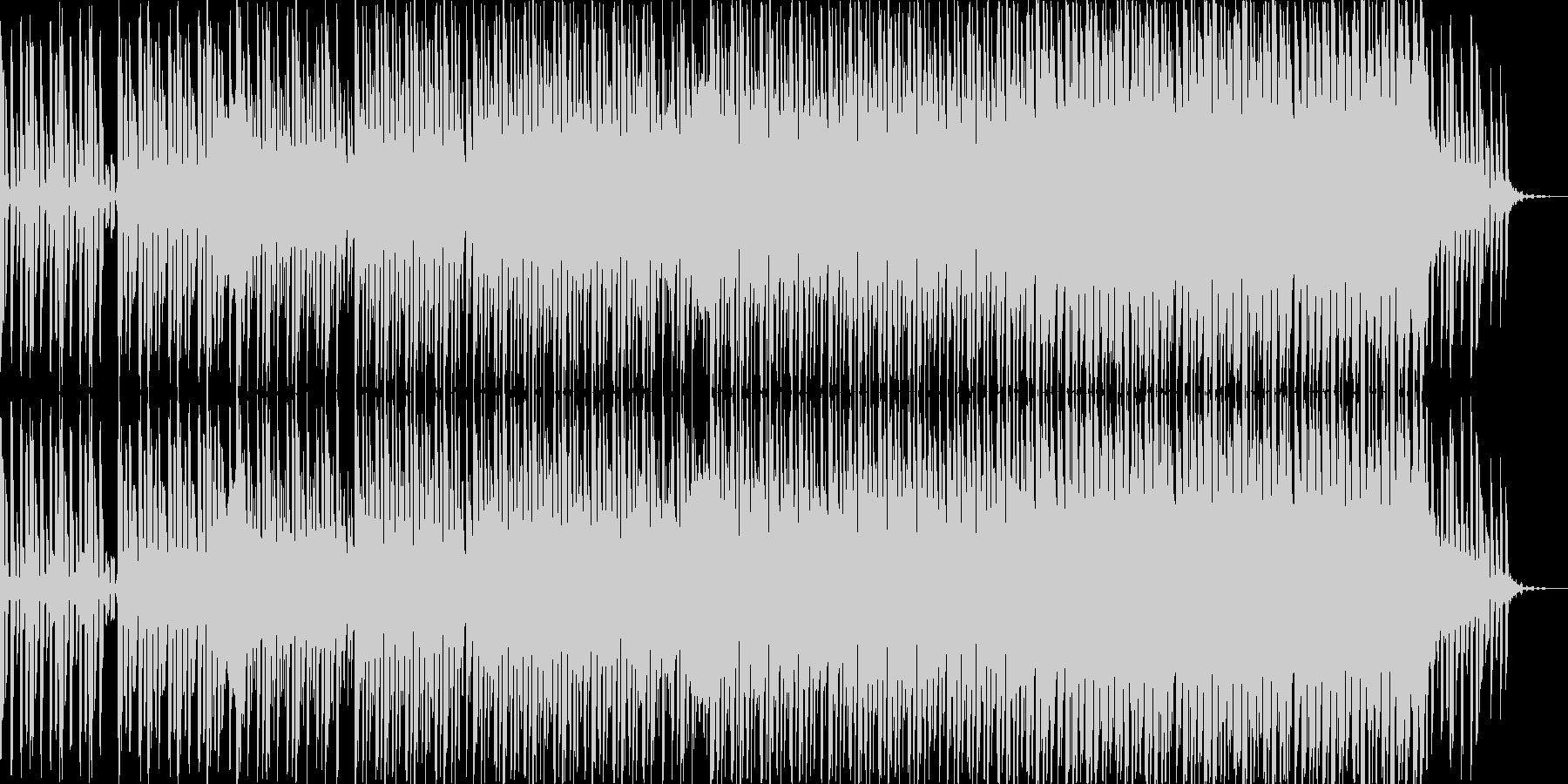 浮遊なハウスミュージックの未再生の波形