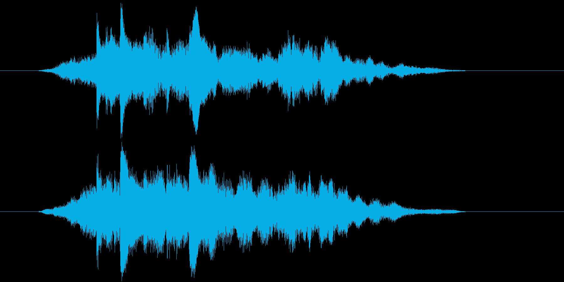 明るいイメージのサウンドロゴの再生済みの波形