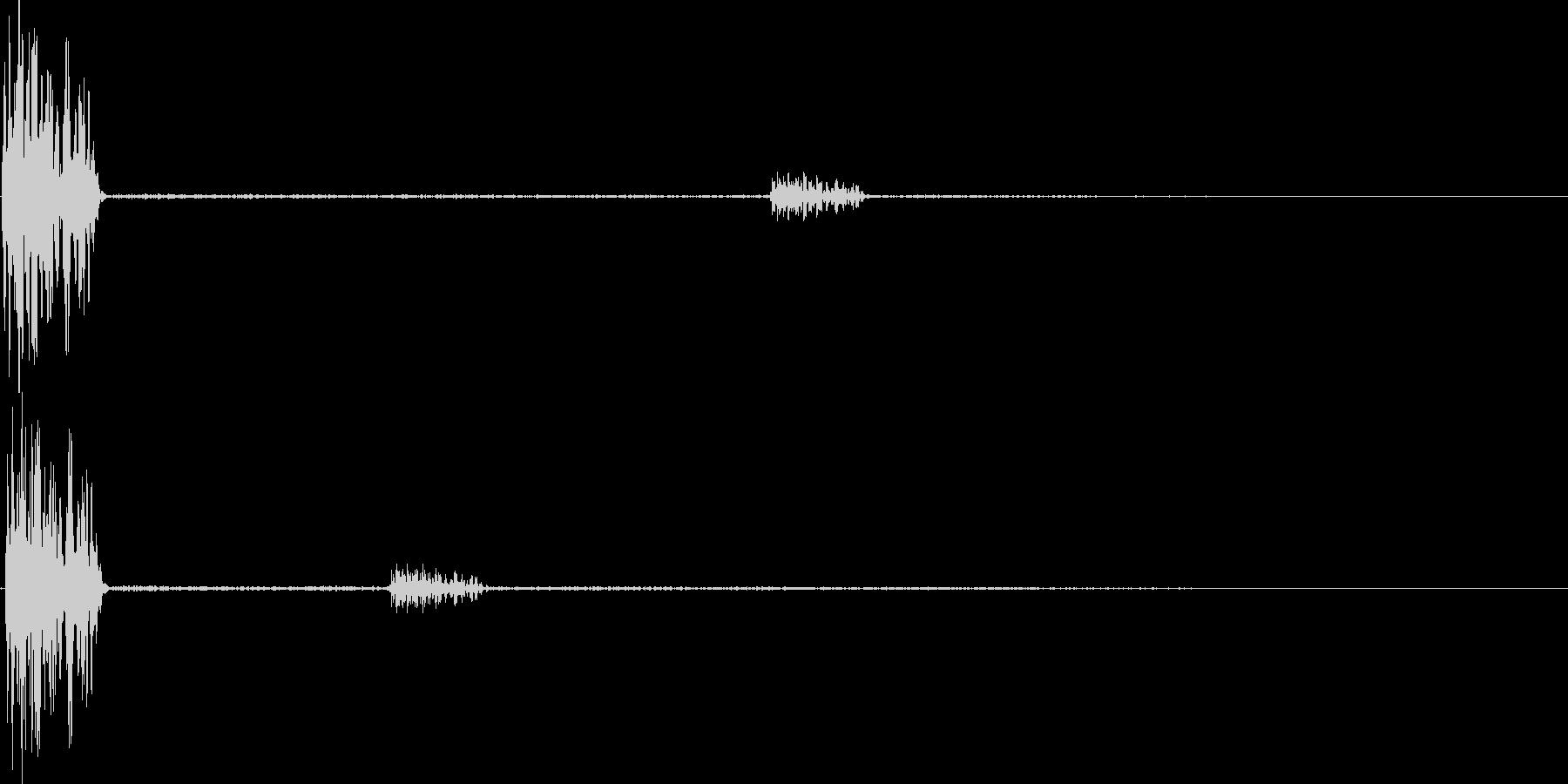 デュオ(キャンセル、間違い、バツ)の未再生の波形