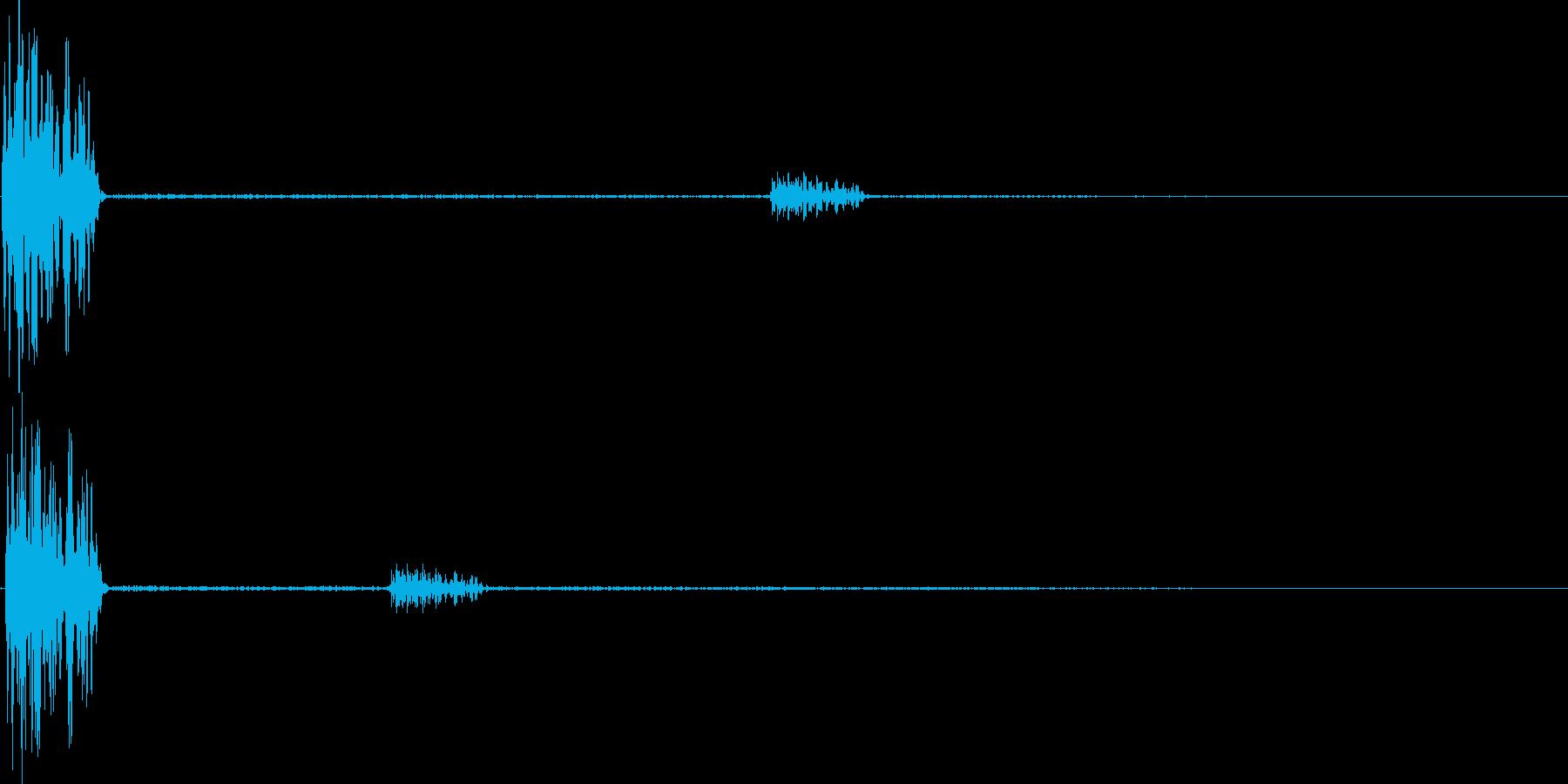 デュオ(キャンセル、間違い、バツ)の再生済みの波形