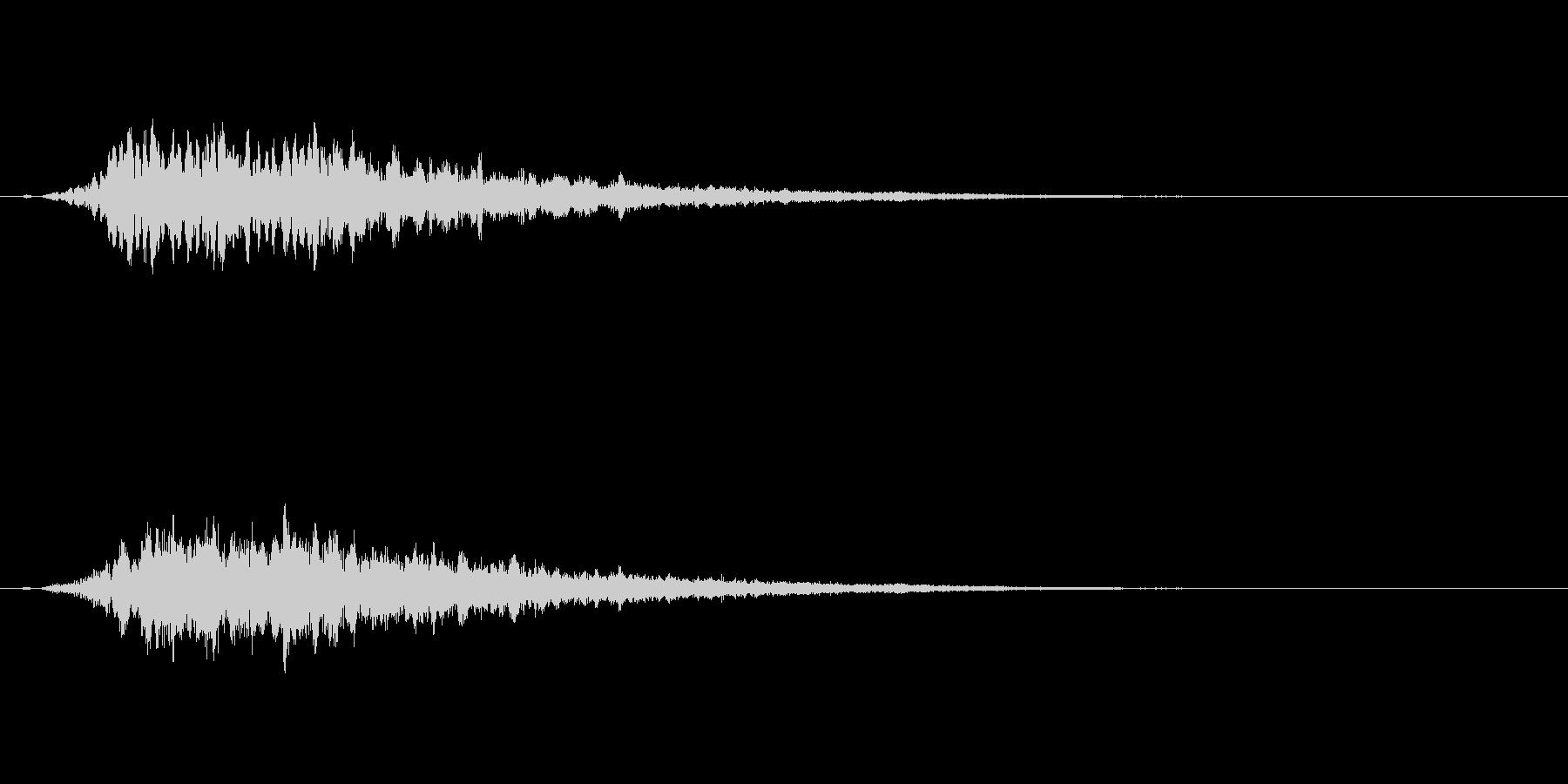 回復音の未再生の波形