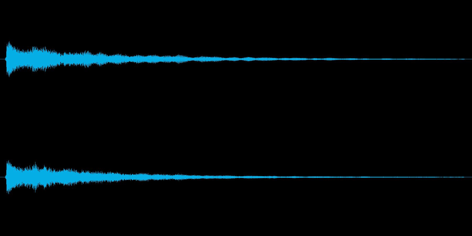 美しいベルのような効果音(ボタン、通知)の再生済みの波形