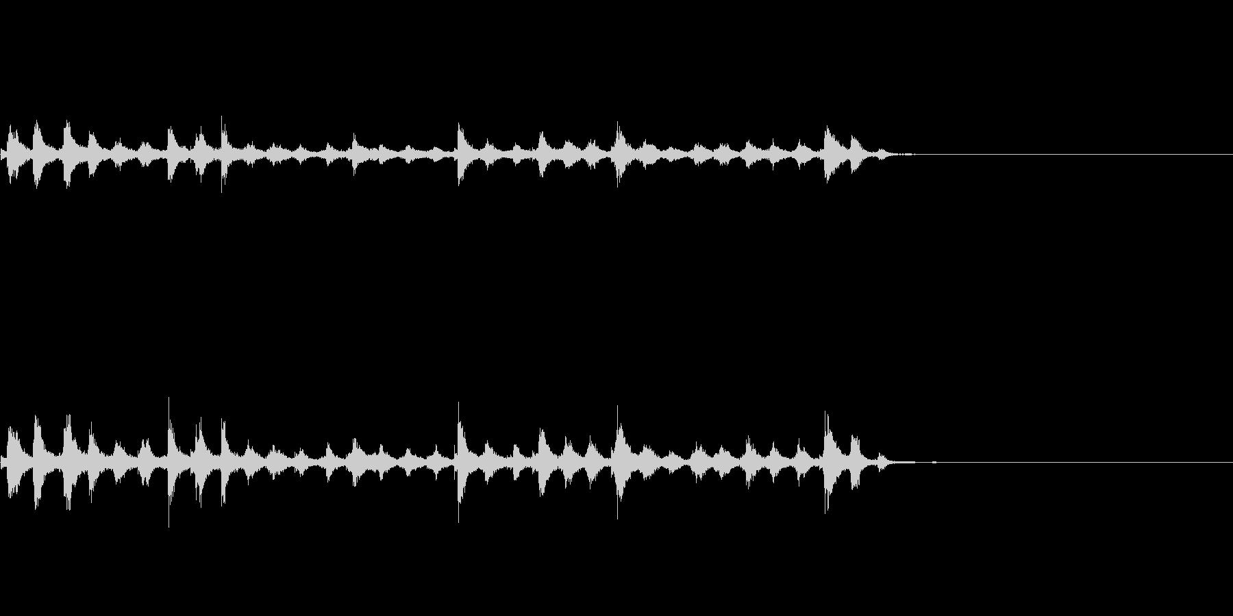 『チャッパ』和製シンバルのフレーズ4FXの未再生の波形