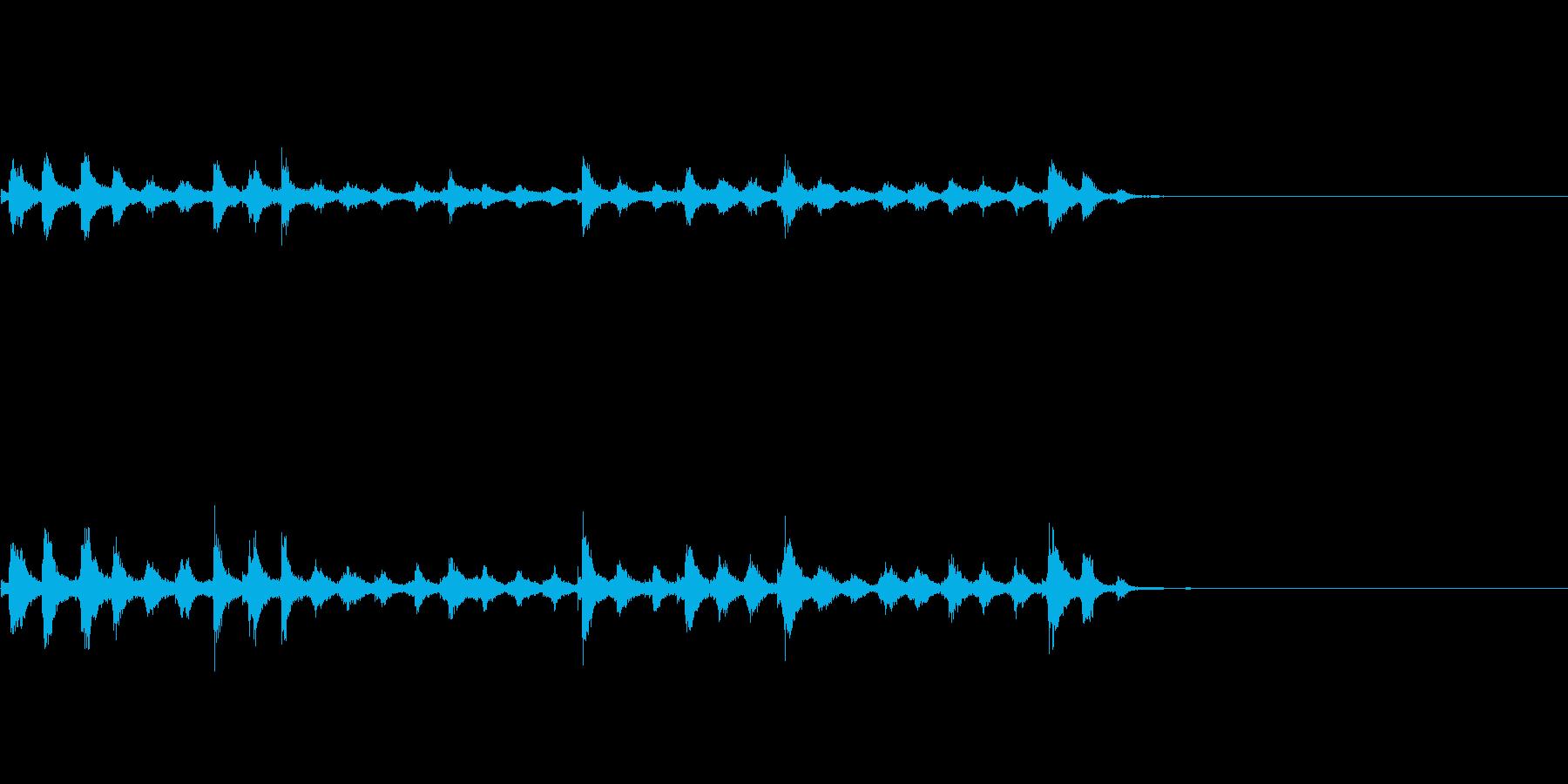 『チャッパ』和製シンバルのフレーズ4FXの再生済みの波形