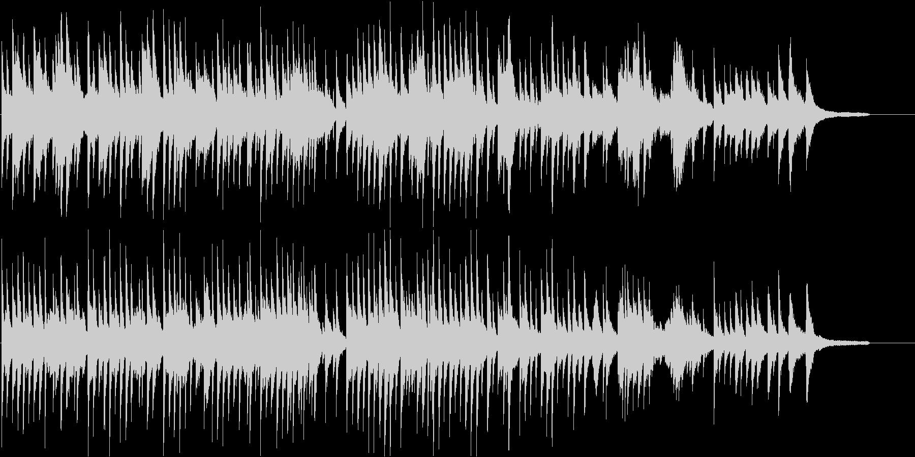 希望を感じさせるピアノ曲の未再生の波形