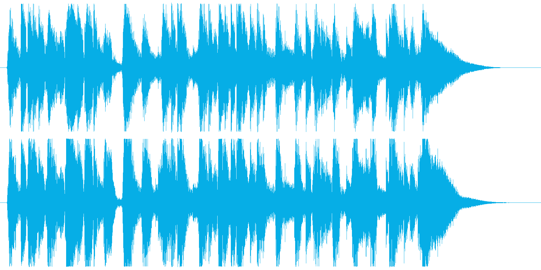 カントリージャズ 15秒サイズの再生済みの波形