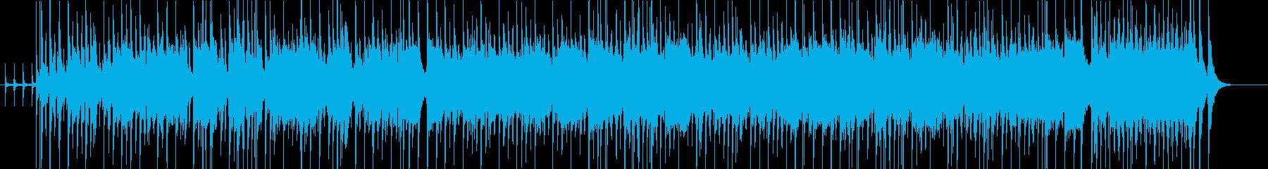 ファンキーなリズムの曲の再生済みの波形