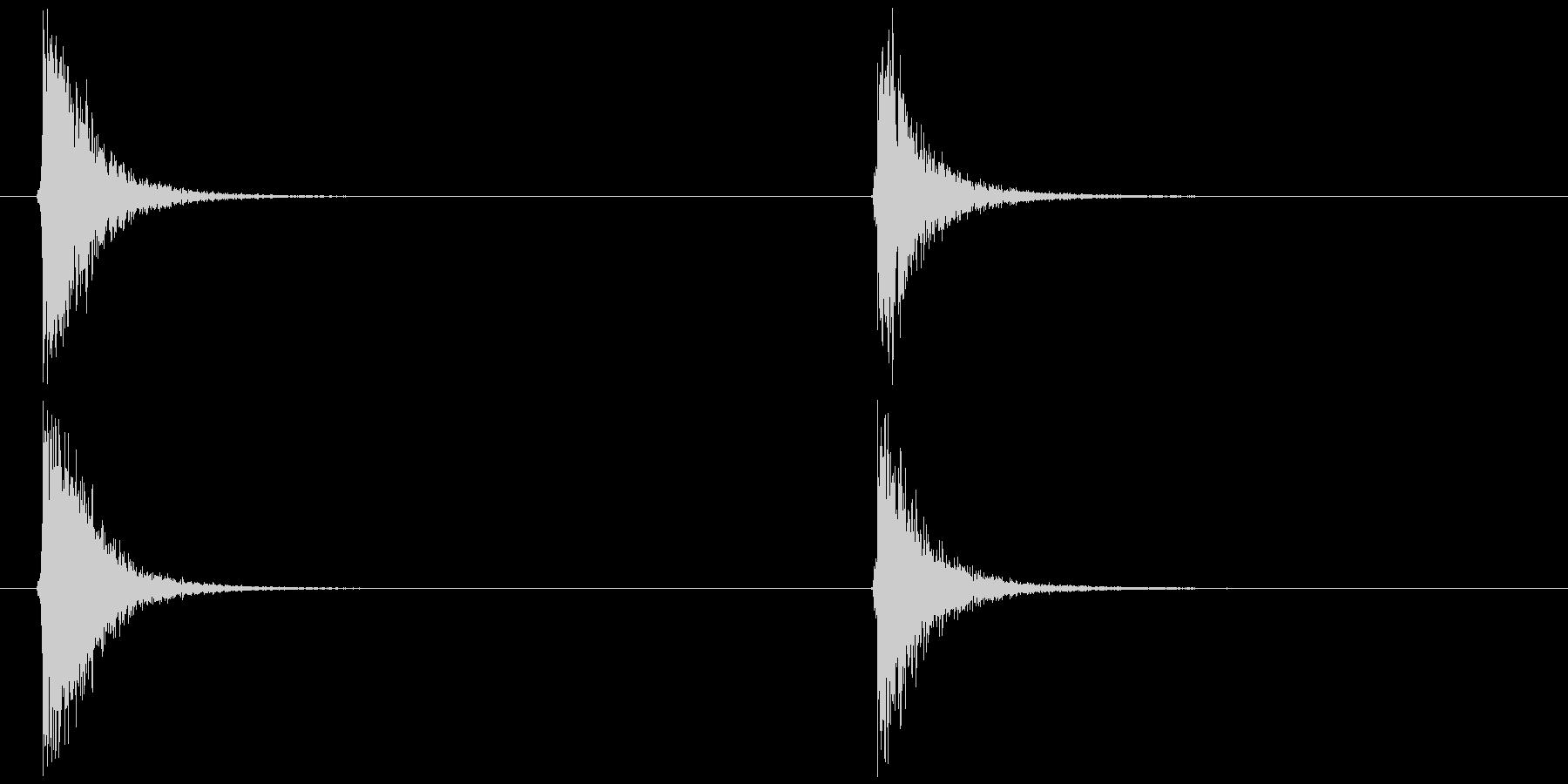ビードロ 間隔早め (ポッ ペン)の未再生の波形