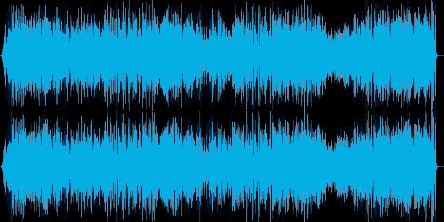 青空を自由に飛び回るような爽快な曲の再生済みの波形