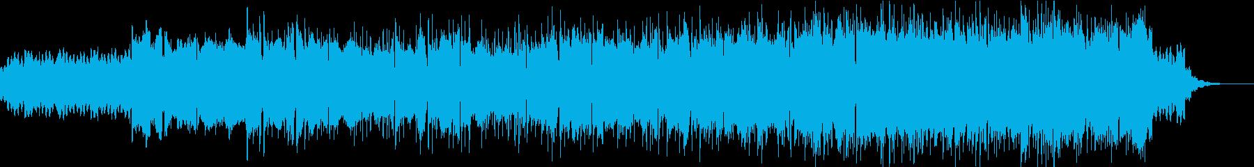 優しく懐かしいゆったりとしたテクノポップの再生済みの波形