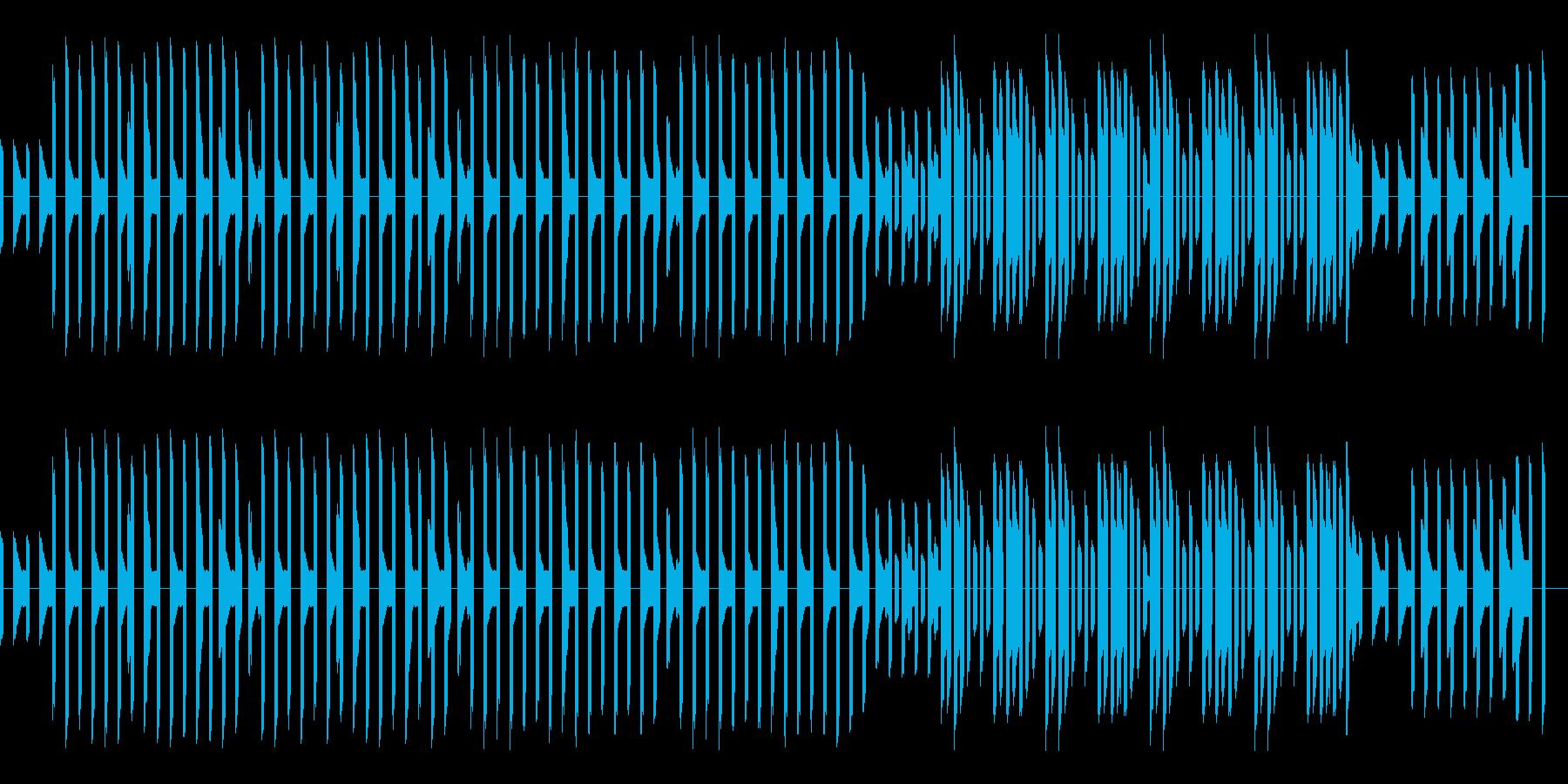 熱血ヒーロー的なレトロゲーム風BGMの再生済みの波形