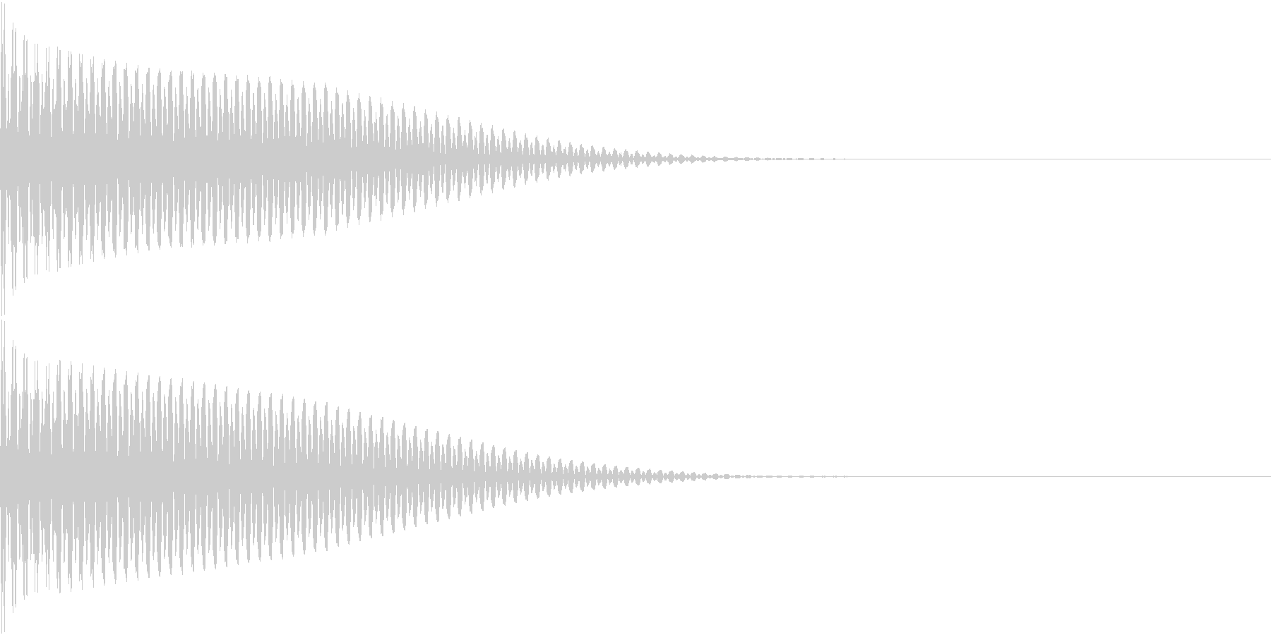 App コマンド音 ピンッ クリックの未再生の波形