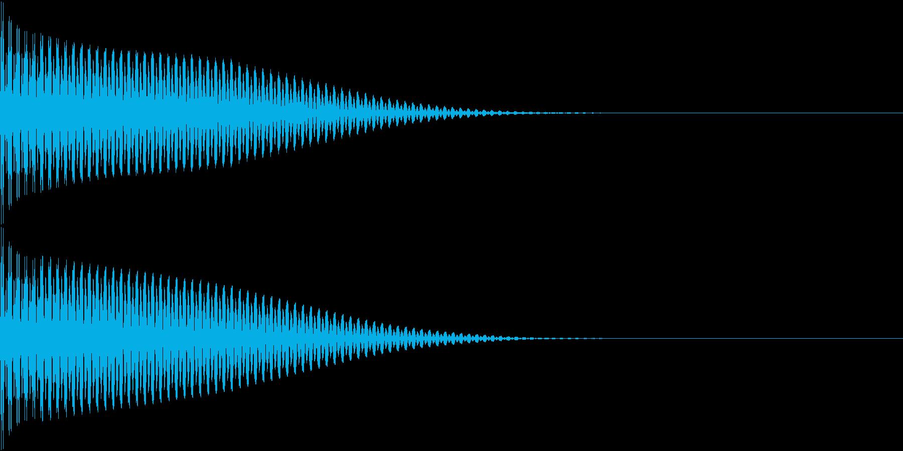App コマンド音 ピンッ クリックの再生済みの波形