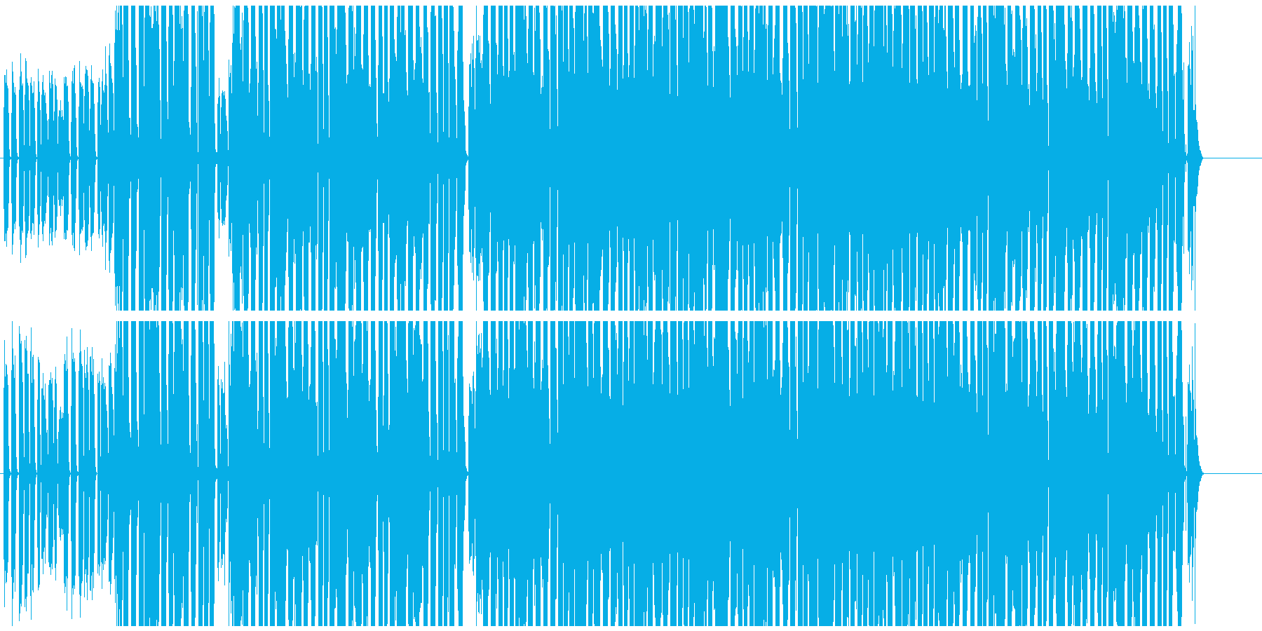 EDM 一風変わったプロモーションBGMの再生済みの波形