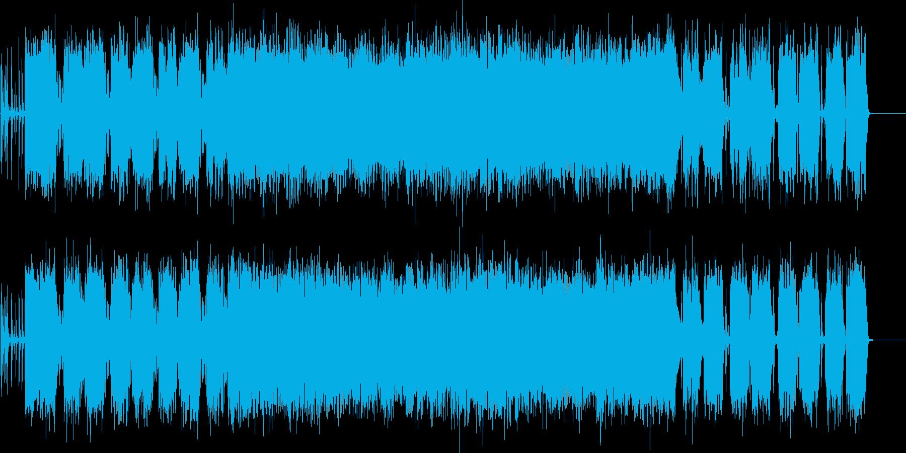 スタイリッシュなリフ系ロックの再生済みの波形