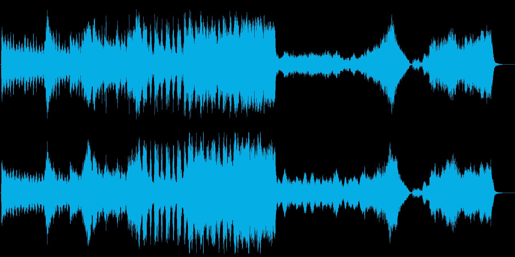 スケール大きめで重い雰囲気の劇版用BG…の再生済みの波形