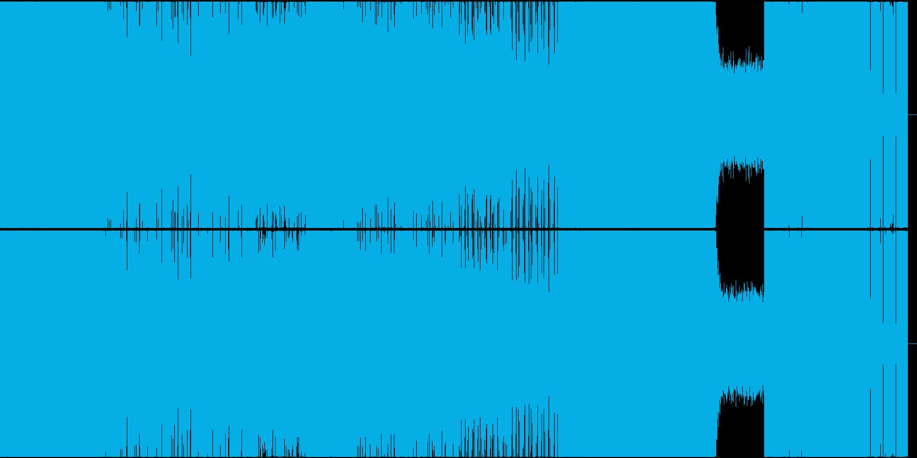 ノイジーでポップなデジタル・ロックの再生済みの波形