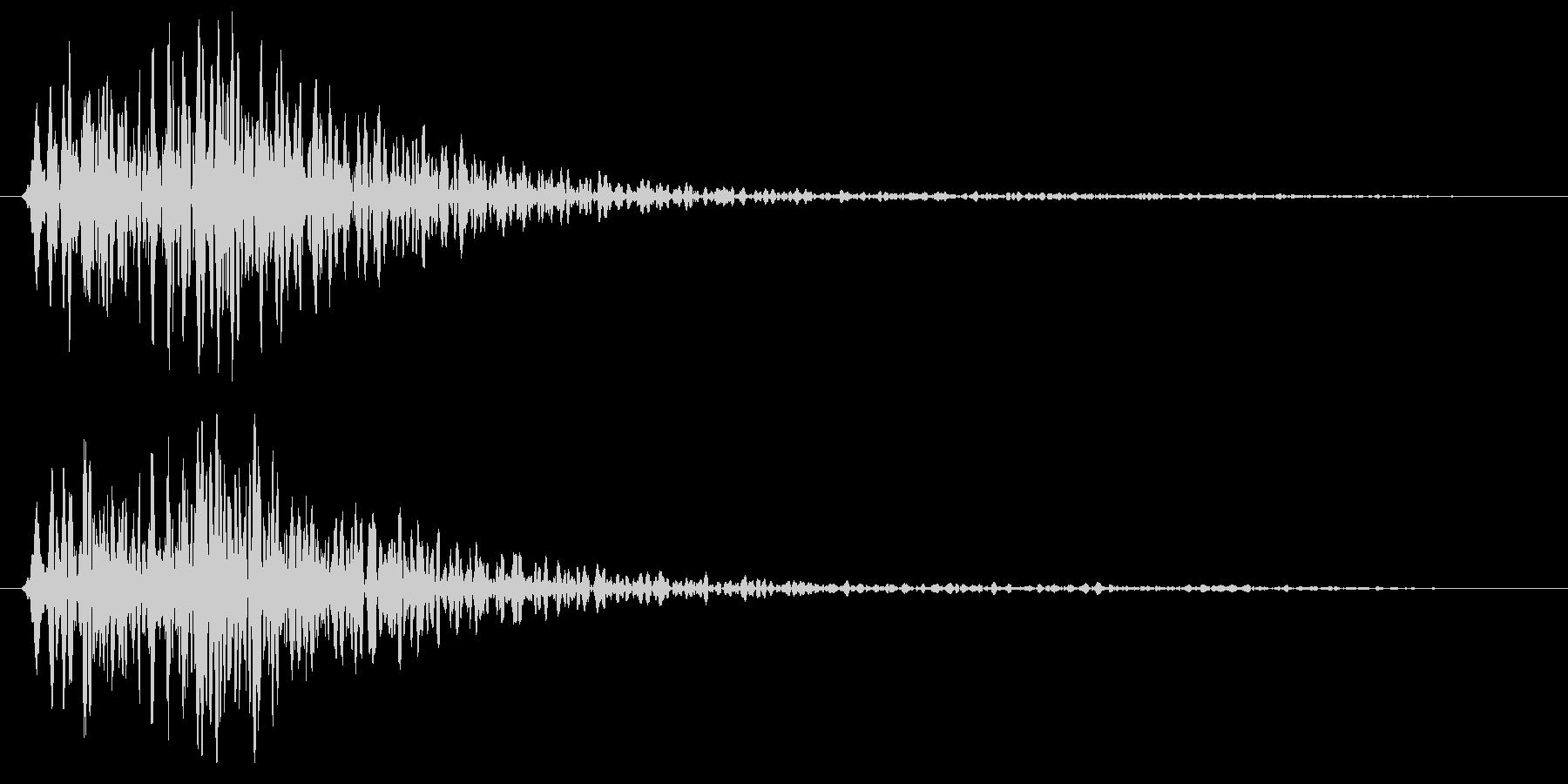 ゴン短い音(金属系)の未再生の波形