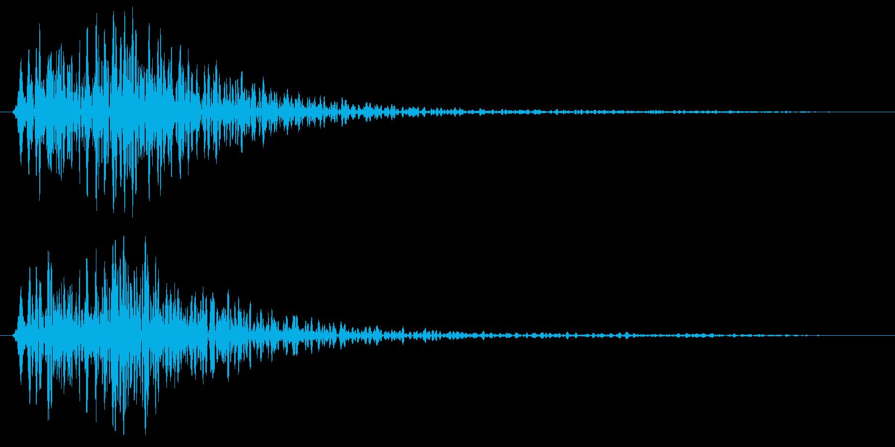 ゴン短い音(金属系)の再生済みの波形