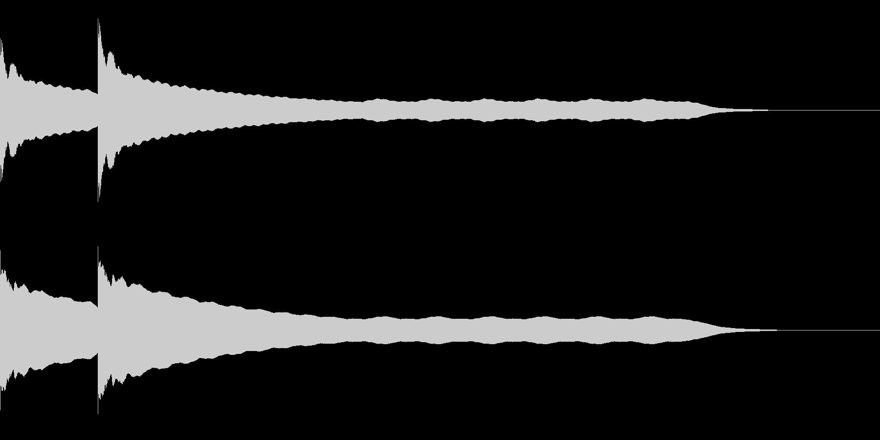 チーンチーン 仏壇の鐘の音3 リバーブ付の未再生の波形