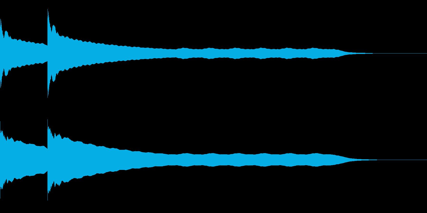 チーンチーン 仏壇の鐘の音3 リバーブ付の再生済みの波形