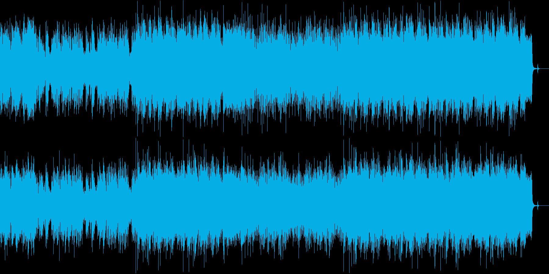 スローでドラマチックな映画音楽風の曲の再生済みの波形