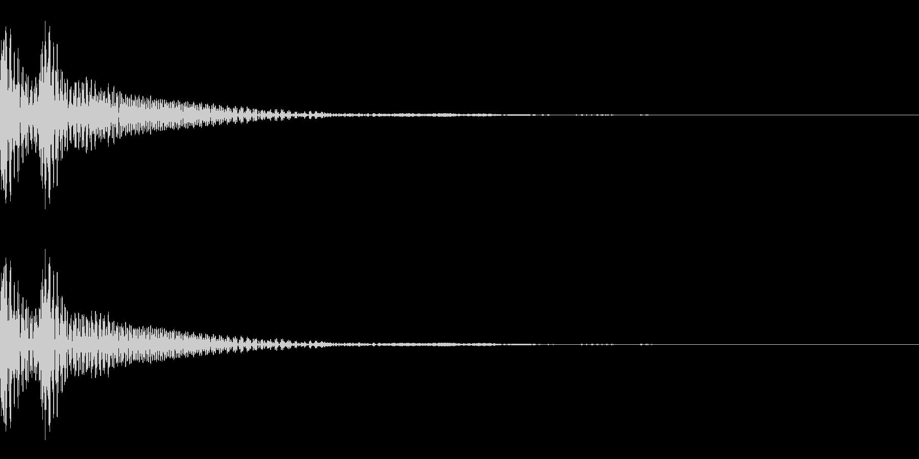 和風「ドドン」大太鼓 通常の未再生の波形
