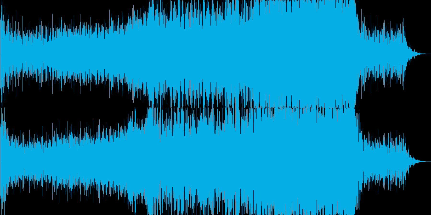 緊迫したシーンなどに合うオーケストラの再生済みの波形