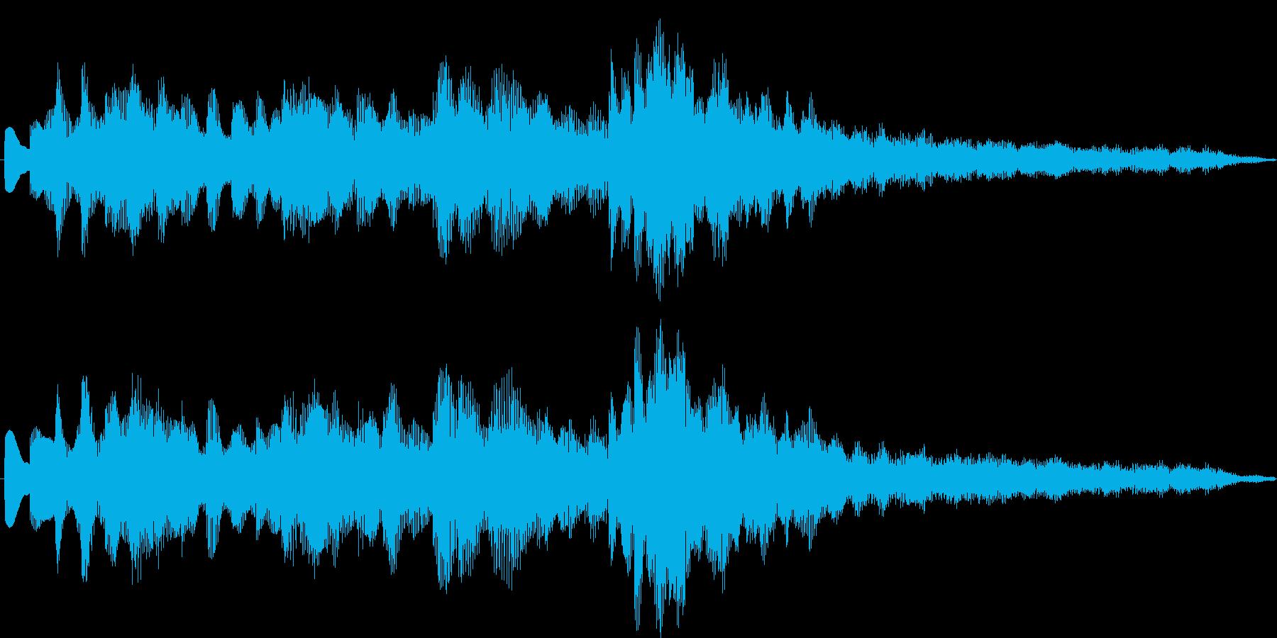 発車メロディ風1の再生済みの波形