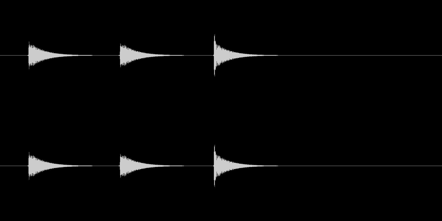 【ショートブリッジ13-6】の未再生の波形