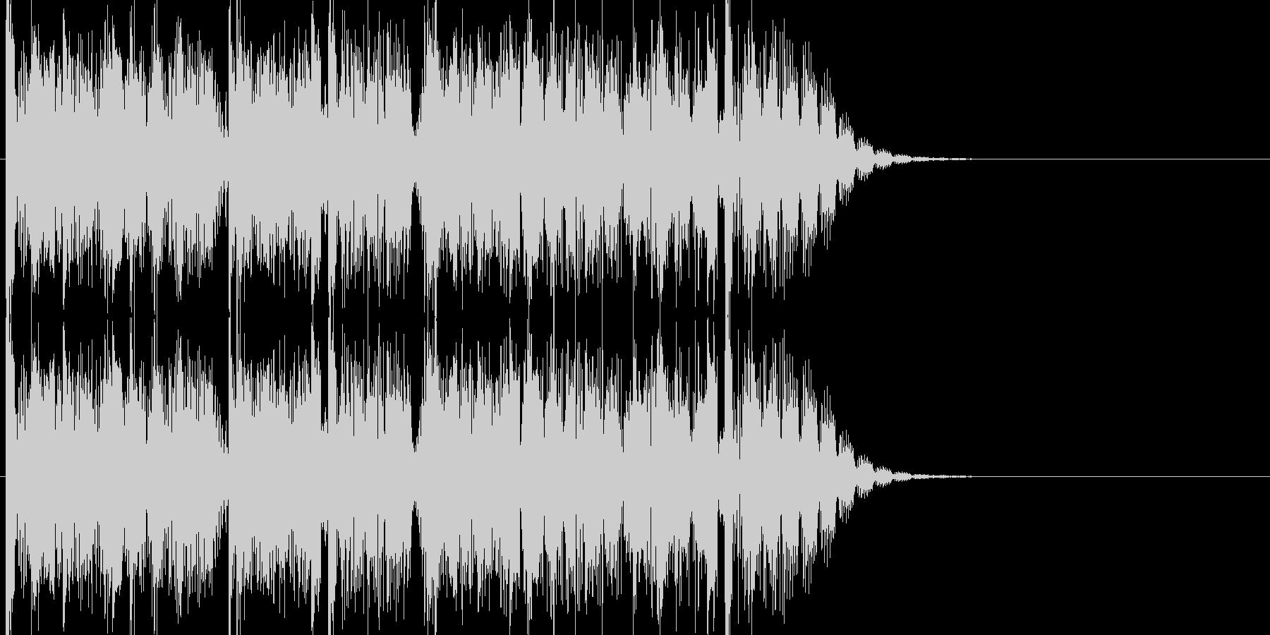 無機質で残響音が多彩で印象的な15秒の曲の未再生の波形