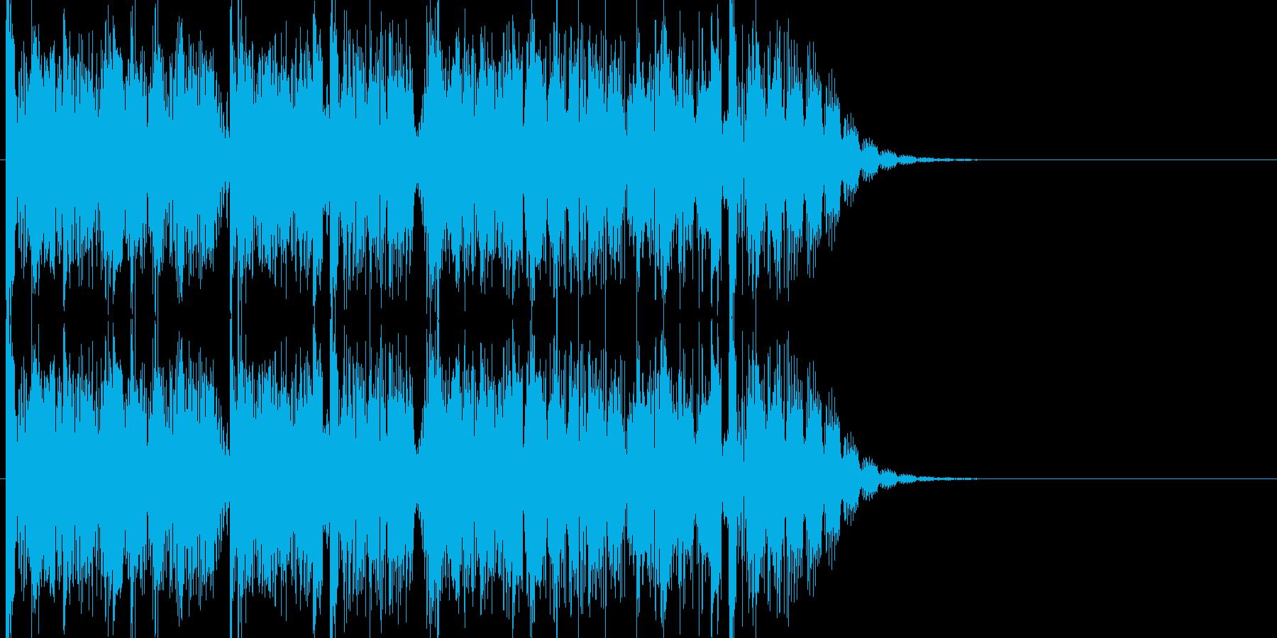 無機質で残響音が多彩で印象的な15秒の曲の再生済みの波形