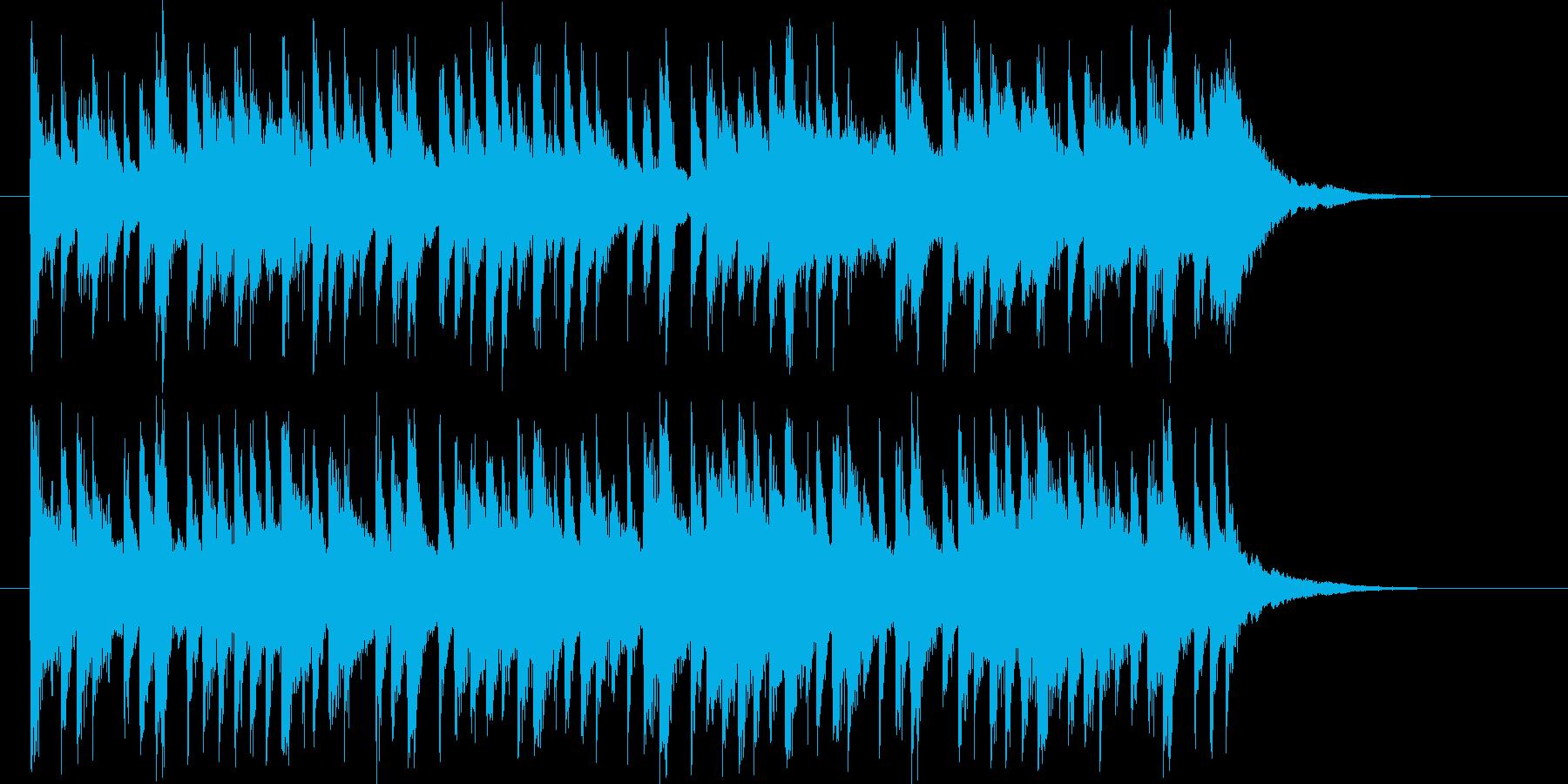 透明感のある鉄琴が印象的なBGMの再生済みの波形