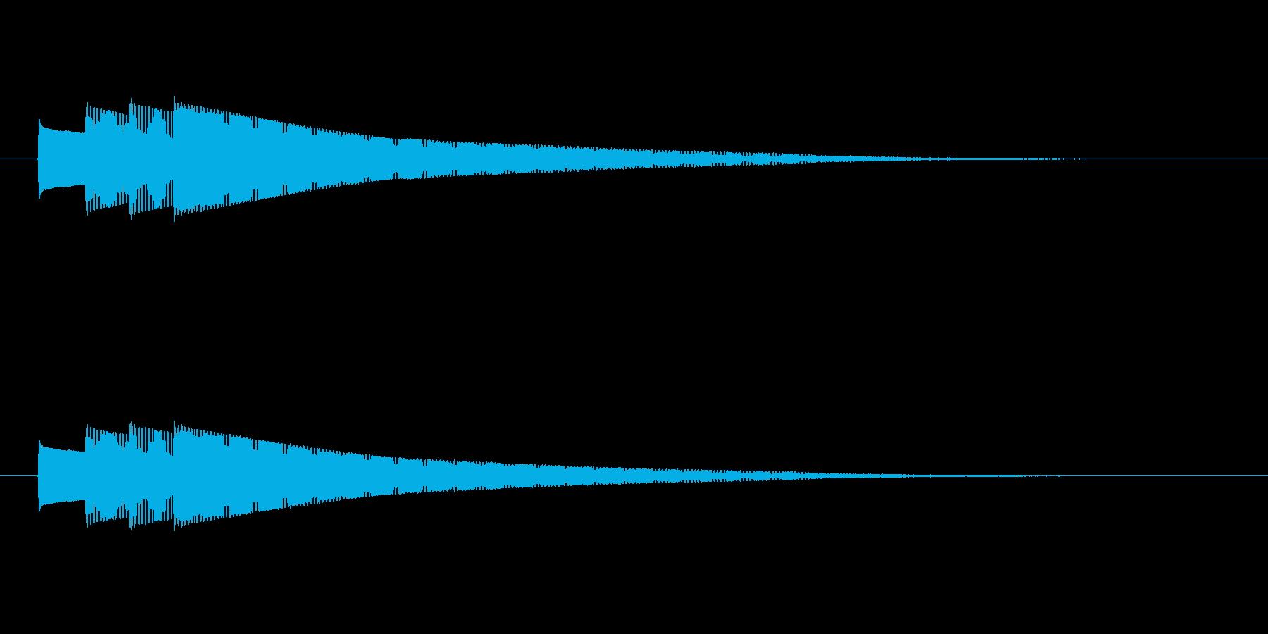 終わりピンポンパンポン (ゆっくり)の再生済みの波形