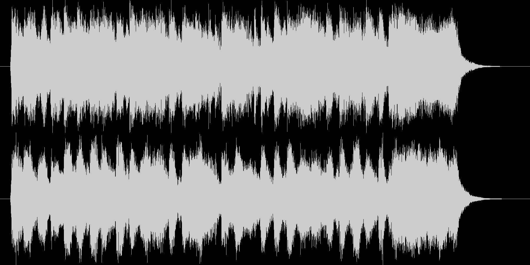 豪華で勢いのあるシンセオルガンサウンドの未再生の波形
