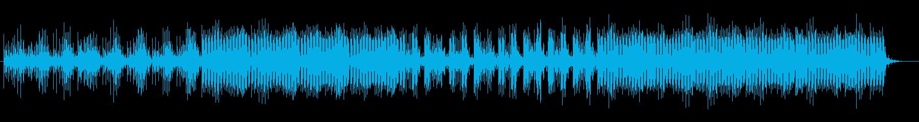 高音で変則ビートの打ち込み系テクノ曲の再生済みの波形