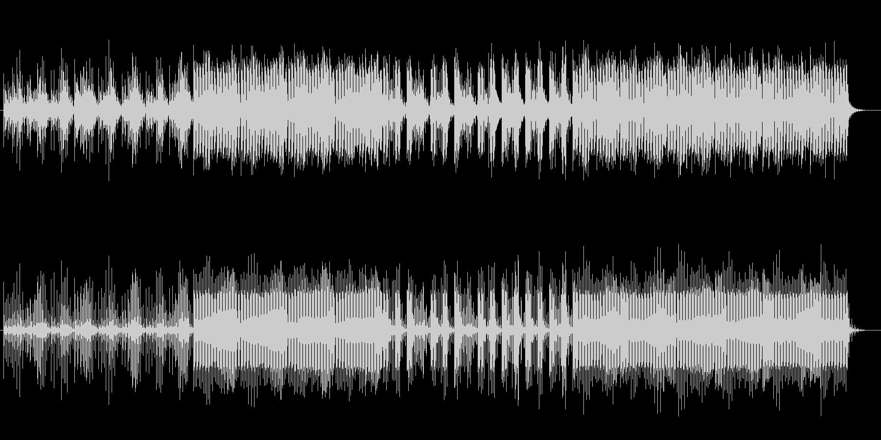 高音で変則ビートの打ち込み系テクノ曲の未再生の波形