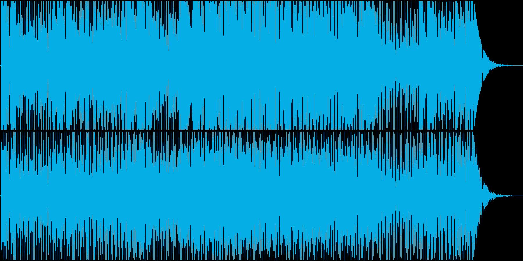 リコーダーをアコギを使った民族調の曲の再生済みの波形