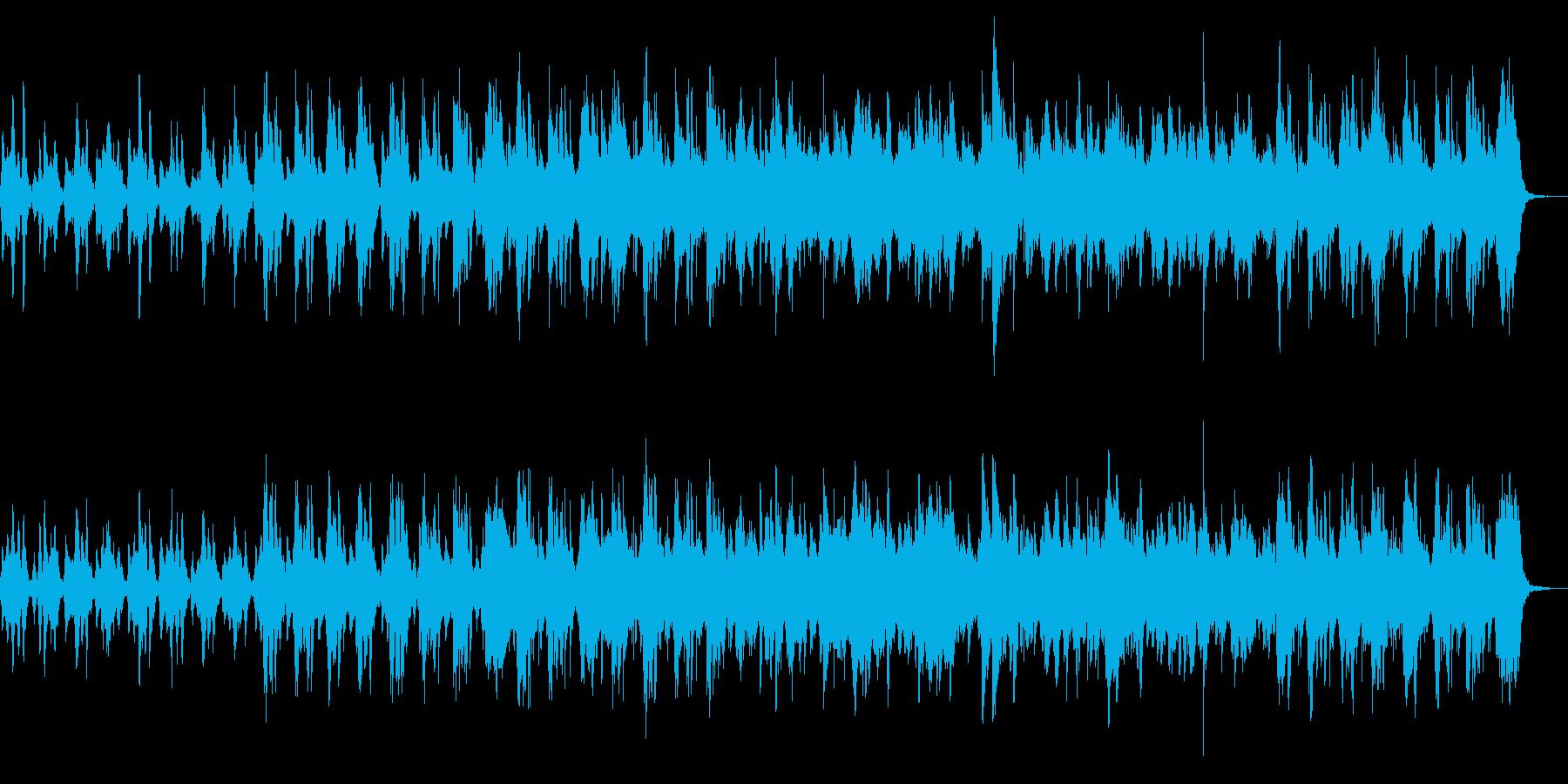 ストリングスとピアノの日常感ある楽曲の再生済みの波形