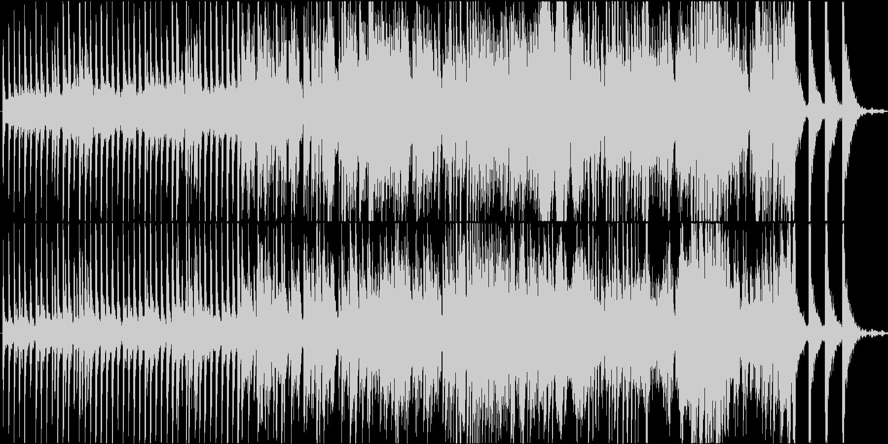 ファンタジー要素のある現代音楽ピアノ曲の未再生の波形