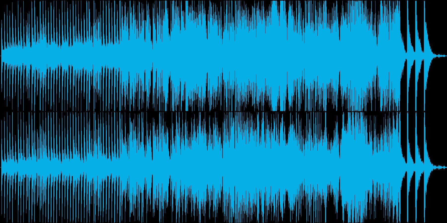ファンタジー要素のある現代音楽ピアノ曲の再生済みの波形