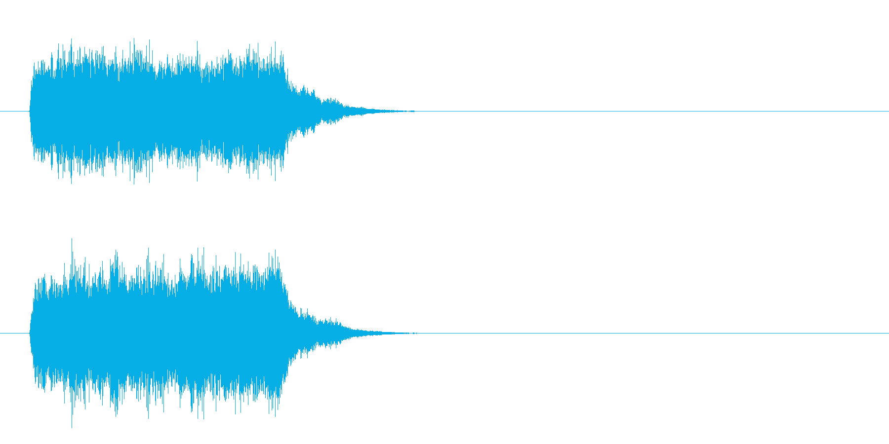 事件を連想する不安なストリングスの再生済みの波形