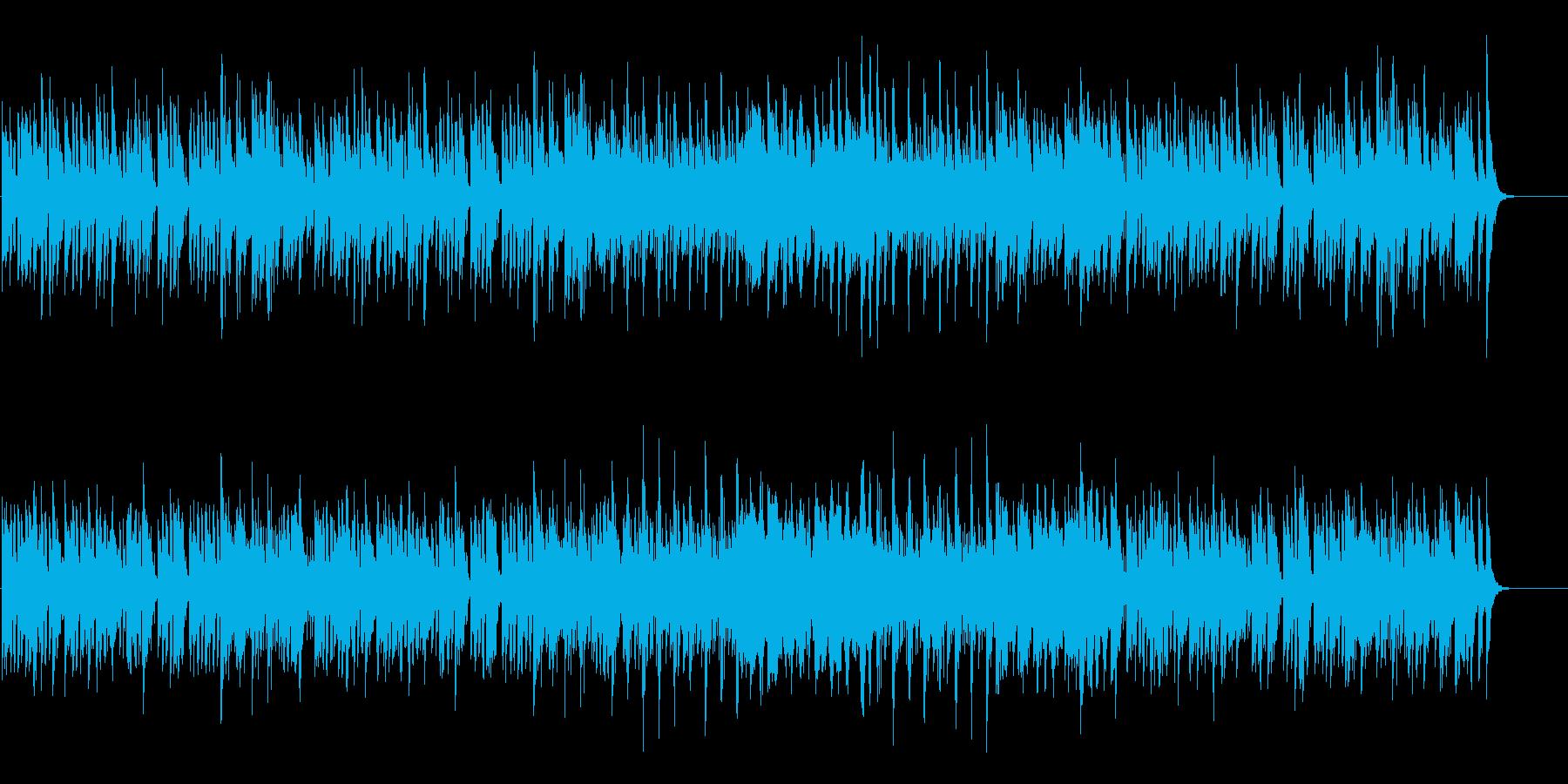 ほのぼのとした開けっぴろげのポップスの再生済みの波形