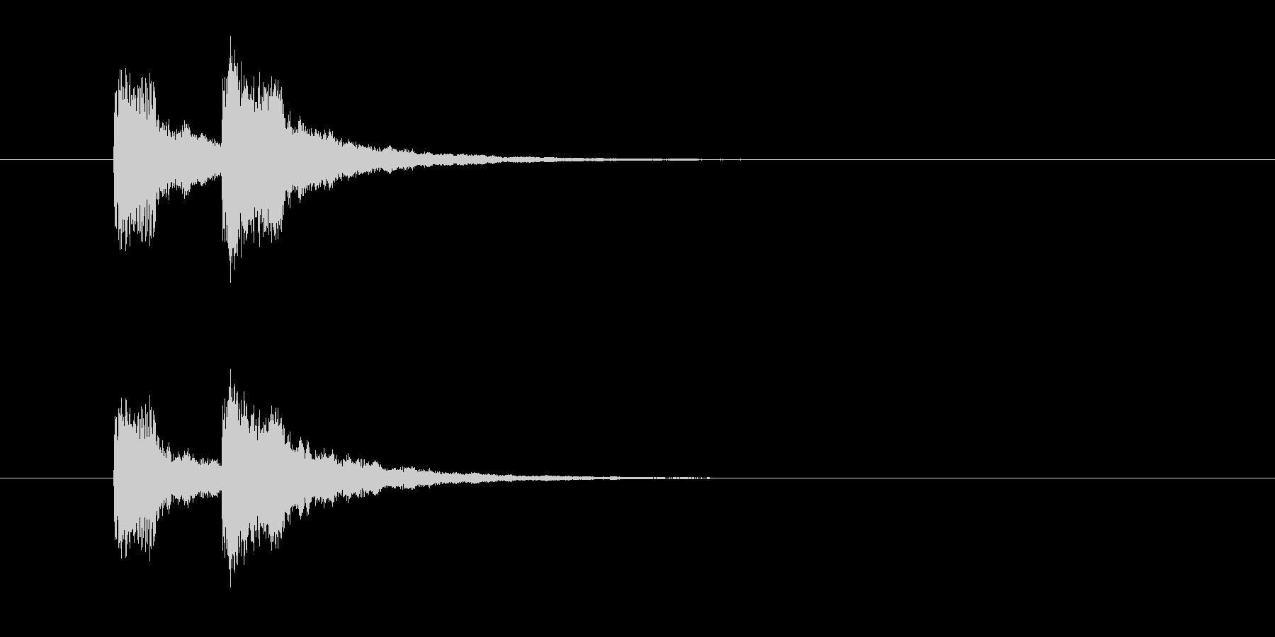 ジャンジャン↑(お笑いのオチの音)の未再生の波形