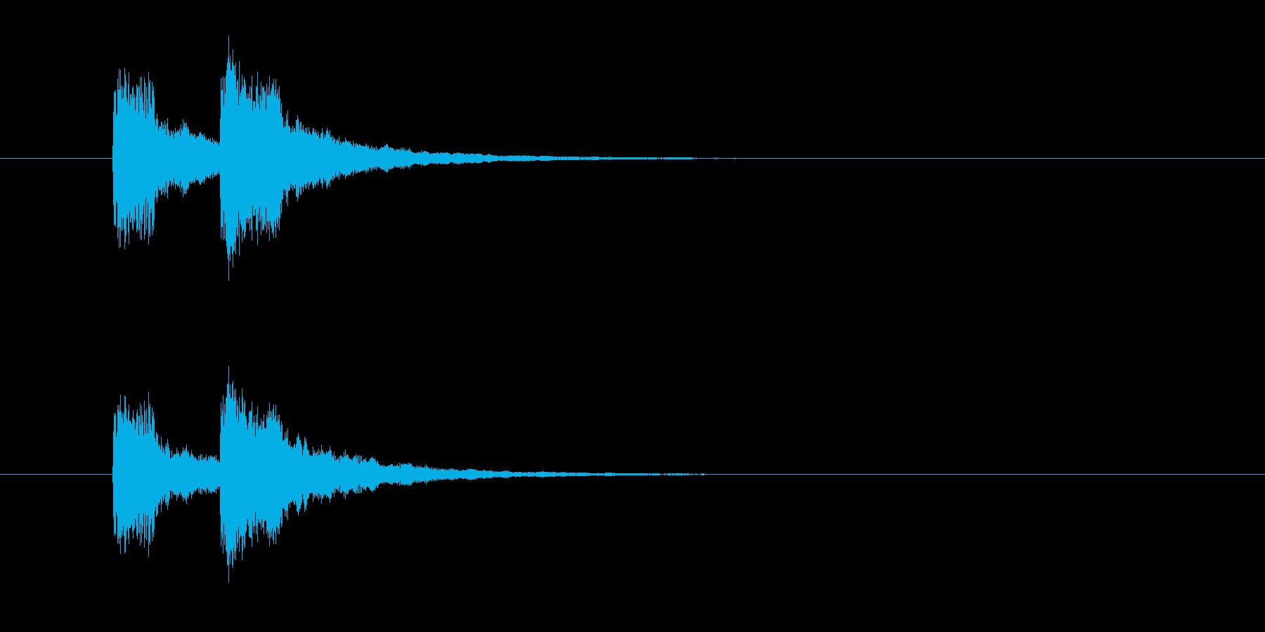 ジャンジャン↑(お笑いのオチの音)の再生済みの波形
