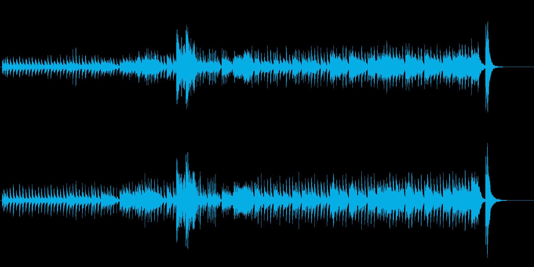 ハロウィン風のトイピアノとオーケストラの再生済みの波形