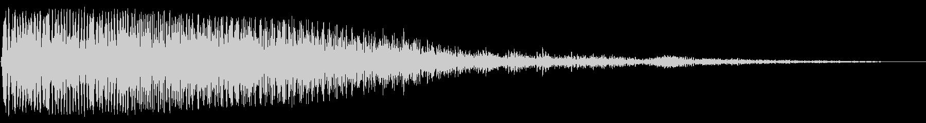 ゆっくりと響くスペース音の未再生の波形