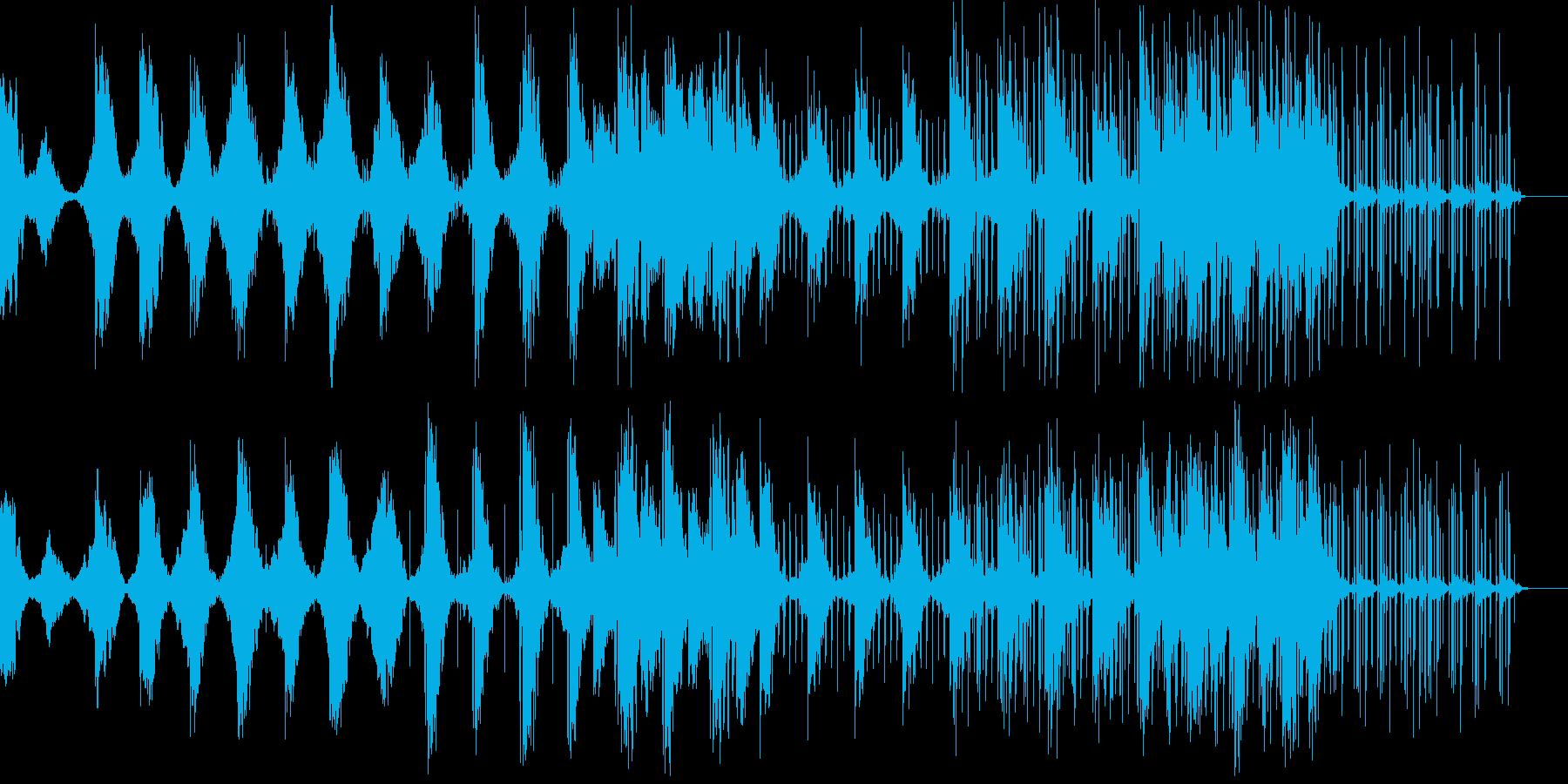 幻想的で近未来的な洗練されたシンセビートの再生済みの波形