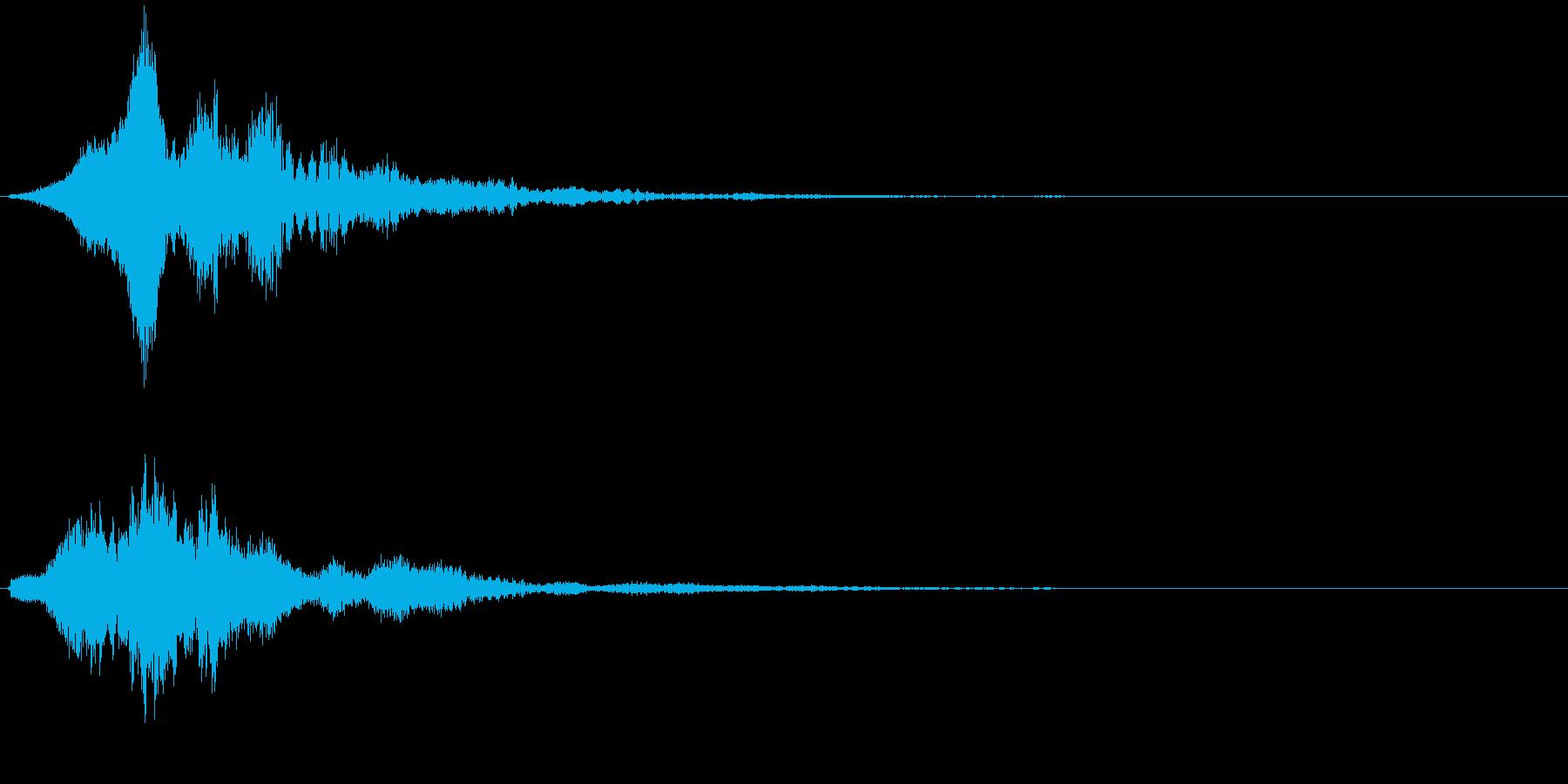 サウンドロゴ(フワーン)の再生済みの波形