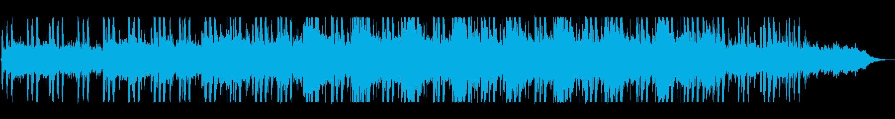 神秘的でゆったりとしたメロディーの再生済みの波形